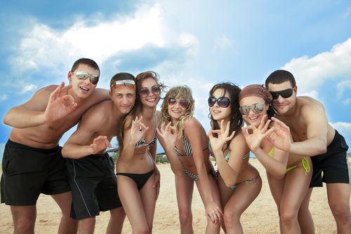 Divemaster internship Tenerife, Canary Islands, PADI Divemaster internship Social with interns on the Beach Canary Islands