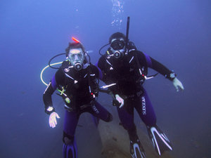 Harry and Adam Wreck Diving