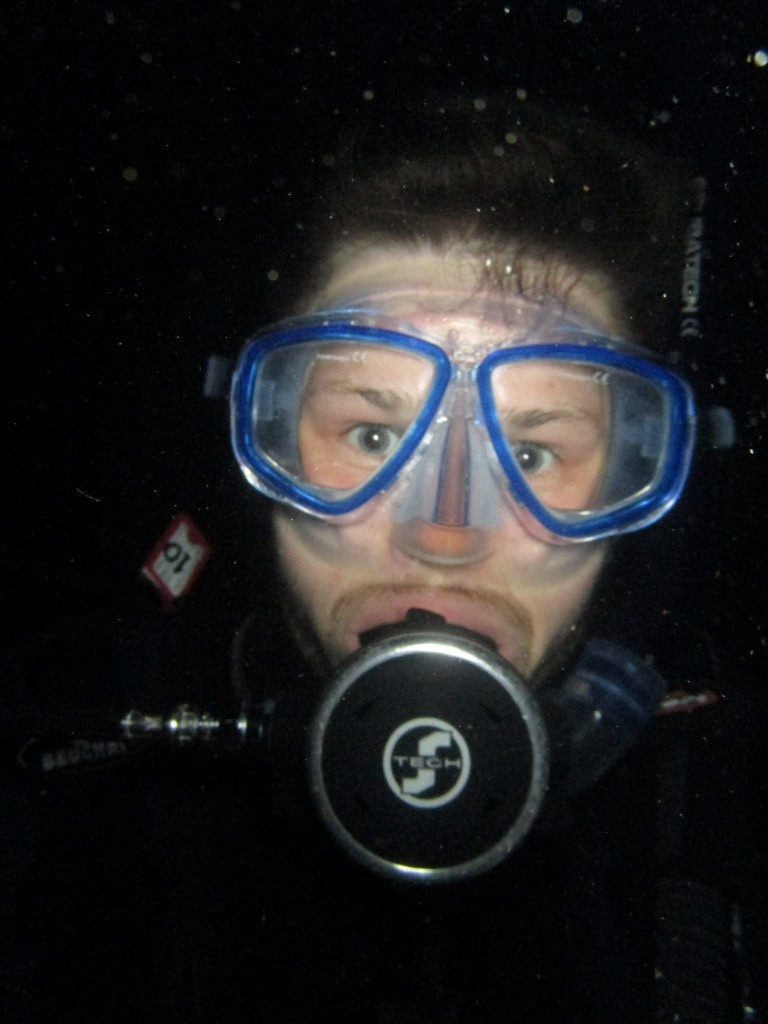 Night diving in Tenerife