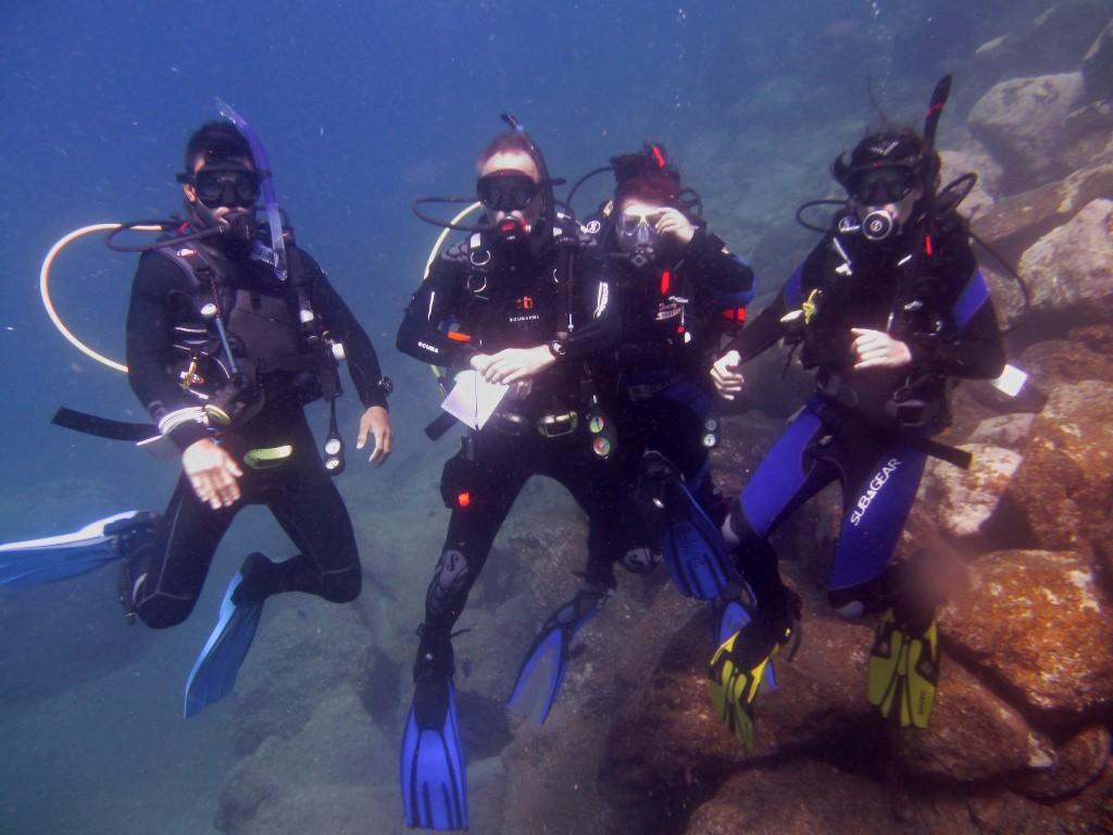 Deep diving team at Tabaiba