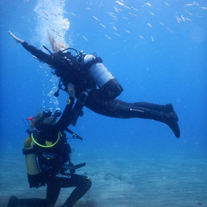 Fun diving in Tenerife