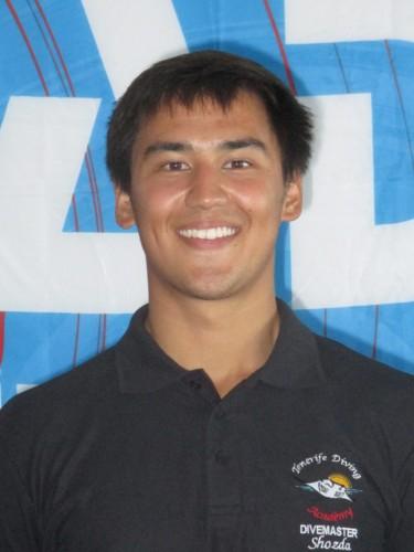 PADI Divemaster intern from USA Alex