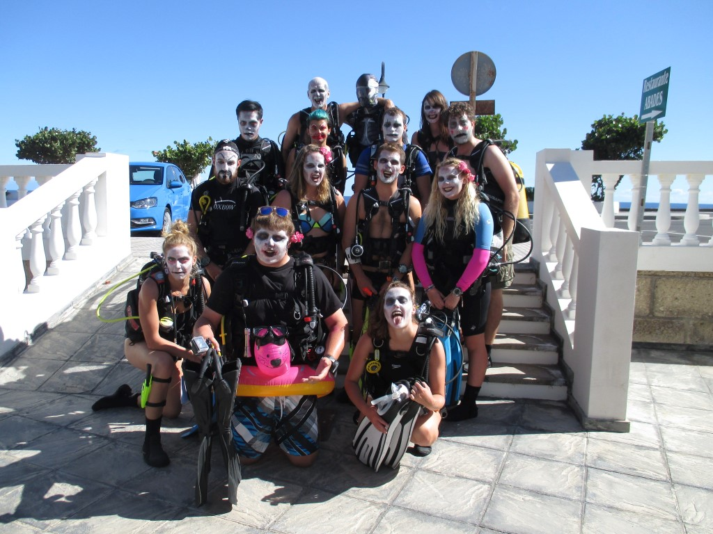 PADI Divemaster interns Halloween